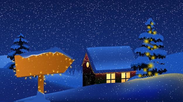 Feliz natal! feliz ano novo. sinal de estrada de madeira grátis. Vetor Premium