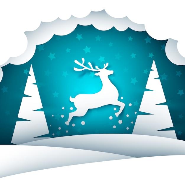 Feliz natal feliz ano novo. Vetor Premium