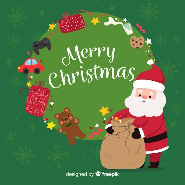Feliz natal, fundo Vetor grátis