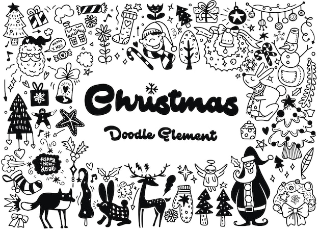 Feliz natal, ilustração Vetor Premium