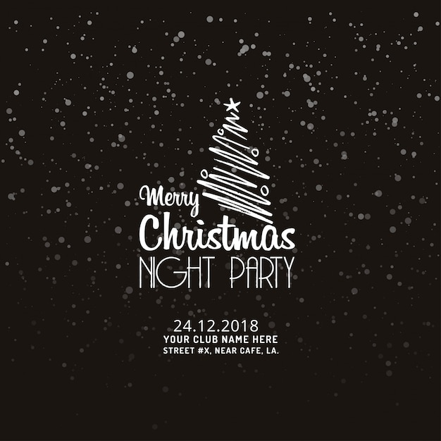 Feliz natal noite festa fundo Vetor grátis
