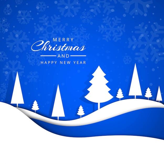 Feliz natal saudação cartão flocos de neve vector design Vetor grátis