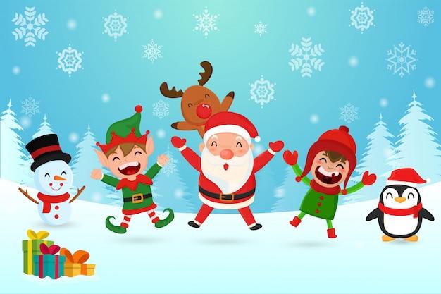 Feliz natal Vetor Premium