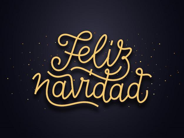 Feliz navidad deseja o texto da tipografia. cartão de vetor Vetor Premium