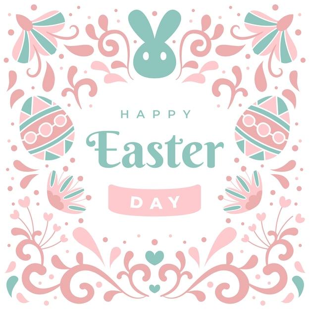 Feliz páscoa dia mão desenhada design Vetor grátis