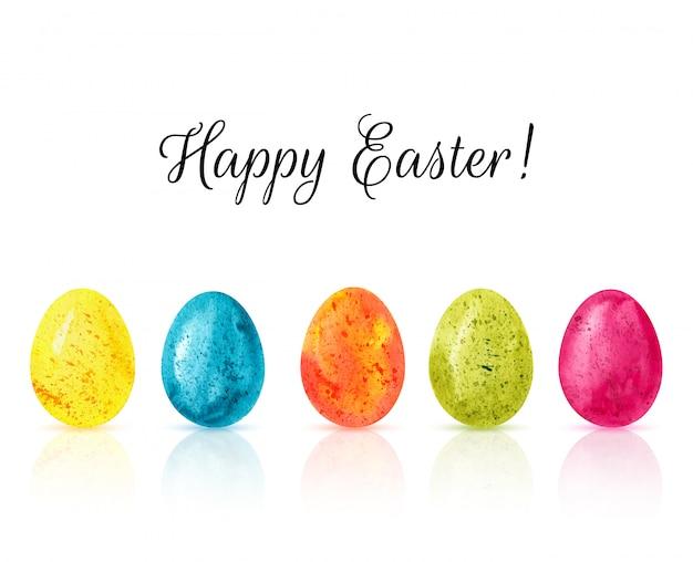 Feliz páscoa ovos coloridos fundo vector Vetor Premium