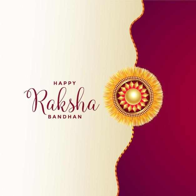 Feliz raksha bandhan saudação Vetor grátis