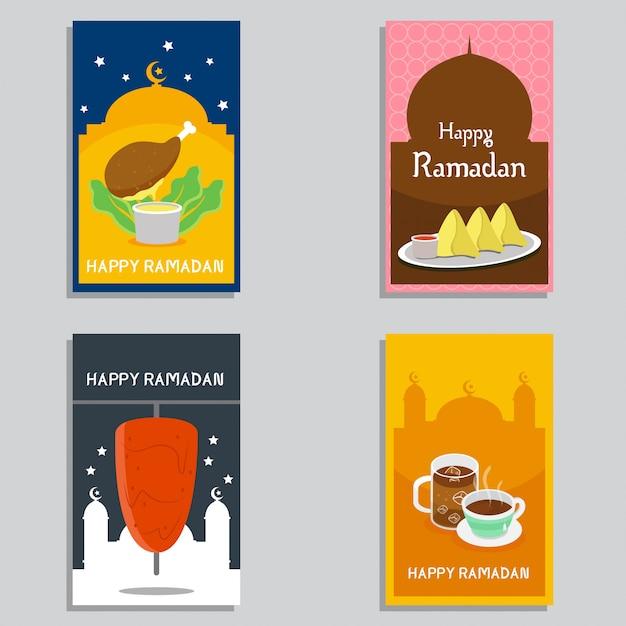Feliz ramadan banner design vector Vetor Premium
