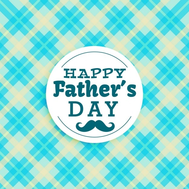 Feliz texto do dia dos pais no fundo azul Vetor grátis