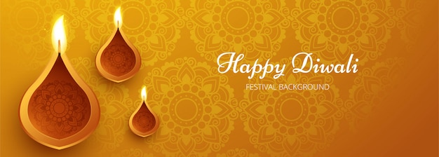 Feriado do festival de diwali Vetor grátis