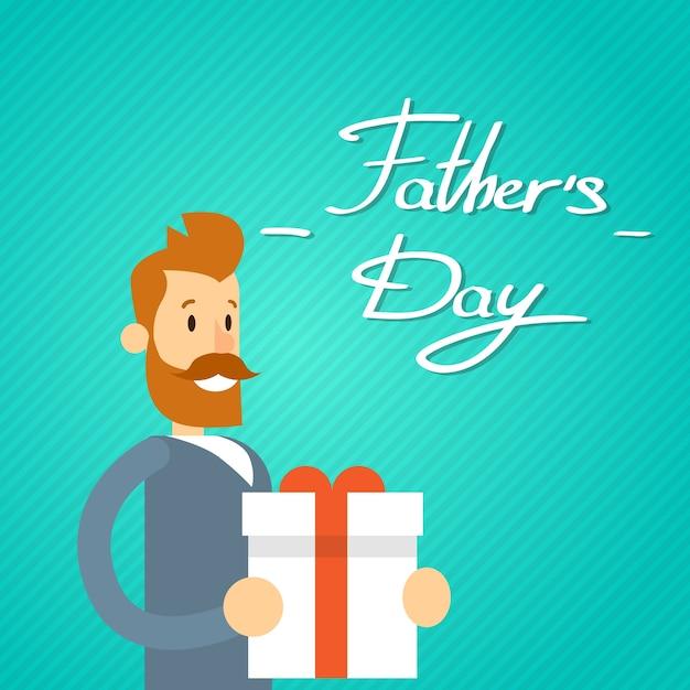 Feriado feliz do dia do pai Vetor Premium
