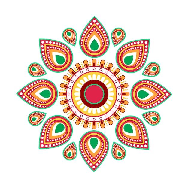 Feriado hindu feliz do cartão do ano novo de ugadi gudi padwa Vetor Premium