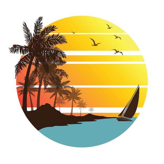 Férias de verão Vetor Premium