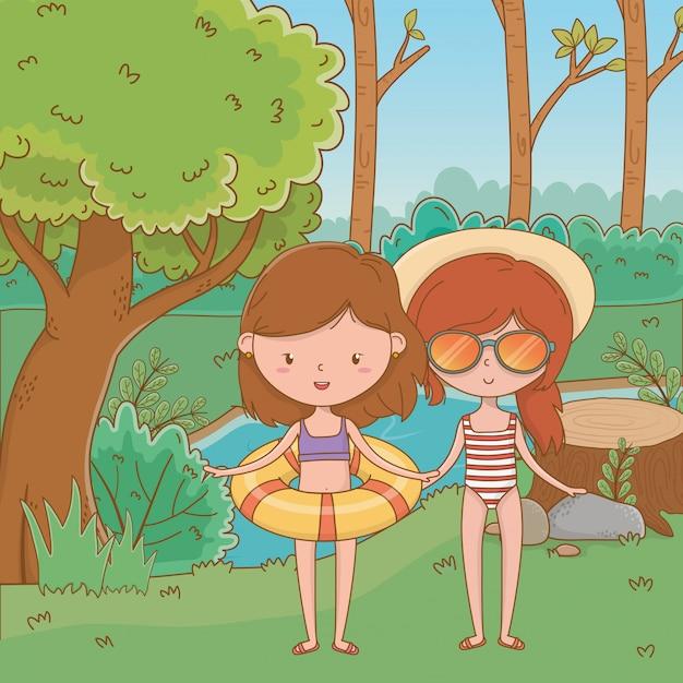 Férias e verão ao ar livre Vetor grátis