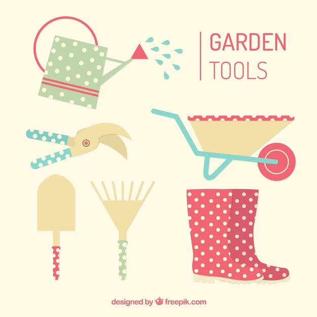 Ferramentas de jardim úteis e bonitos Vetor grátis