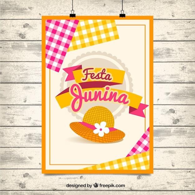 Festa Bonito Cartaz Festa Junina Baixar Vetores Grátis