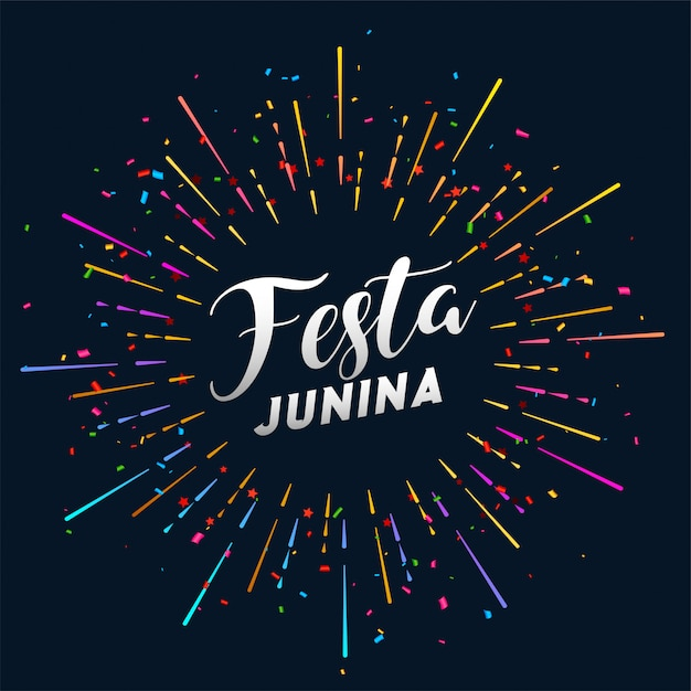 Festa confetty estourando festa junina fundo Vetor grátis