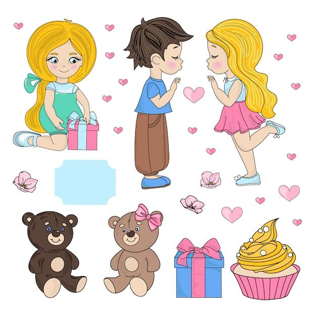 Festa de amor dia dos namorados Vetor Premium