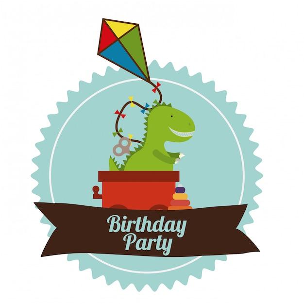 Festa de aniversário Vetor Premium