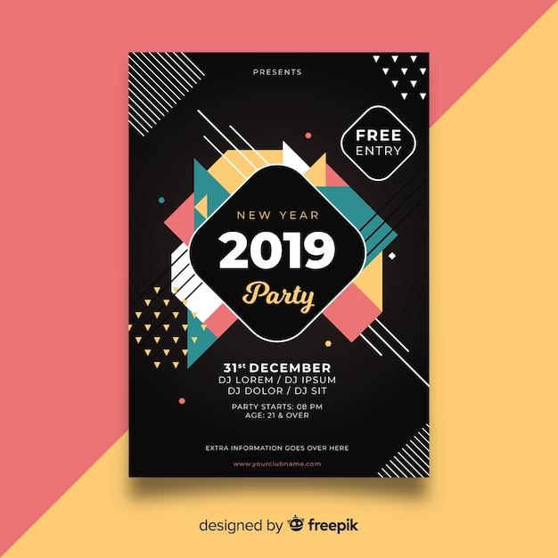 Festa de ano novo de 2019 Vetor grátis