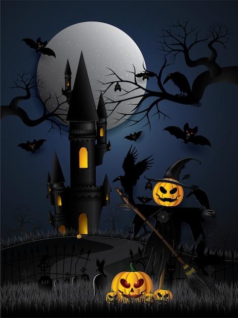 Festa de halloween . Vetor Premium