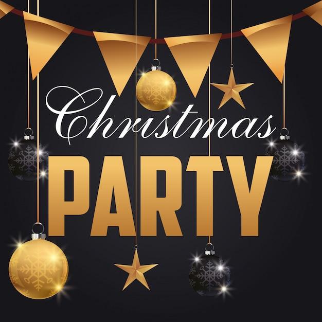 Festa de natal feliz Vetor Premium
