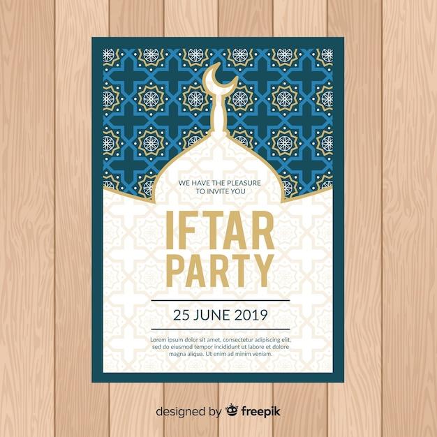 Festa iftar Vetor grátis