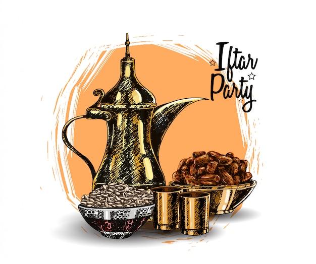 Festa iftar Vetor Premium