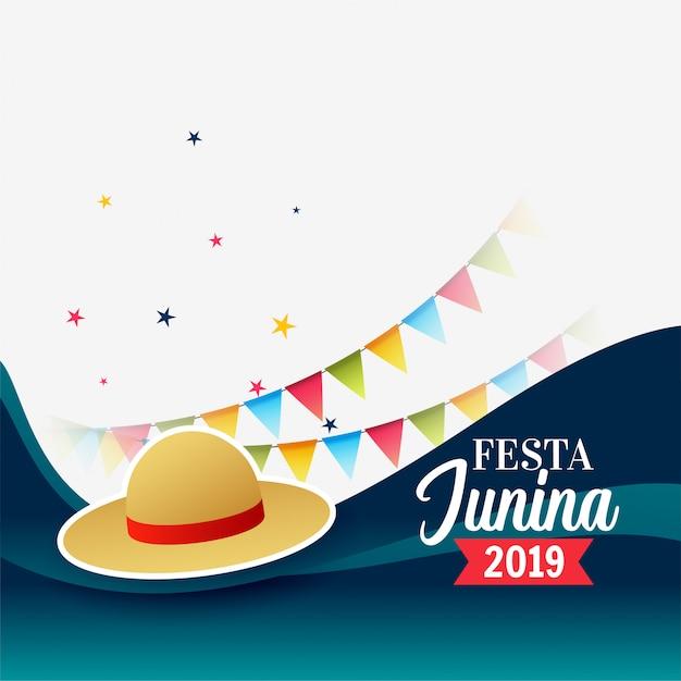 Festa junina brasil festival feriado saudação Vetor grátis