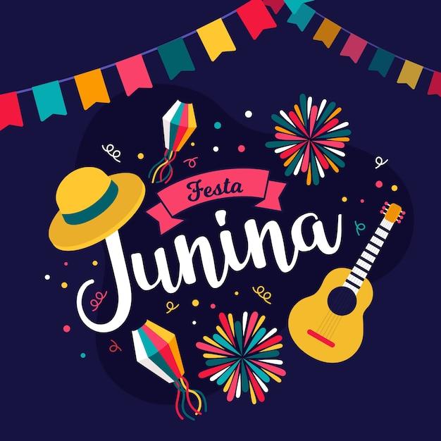 Festa junina celebração conceito Vetor grátis