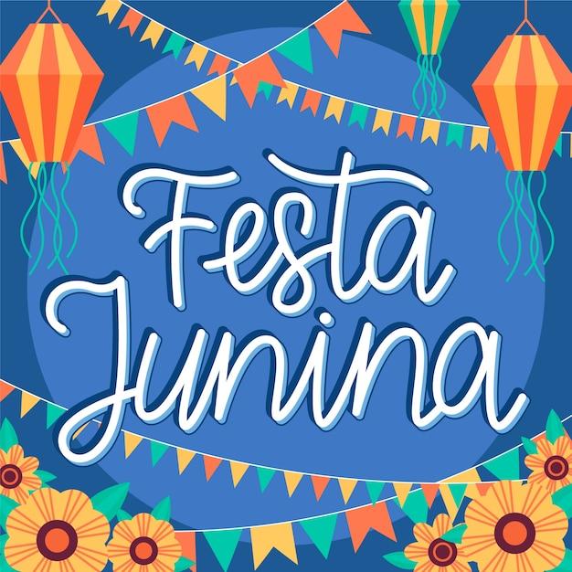 Festa junina celebração evento Vetor grátis