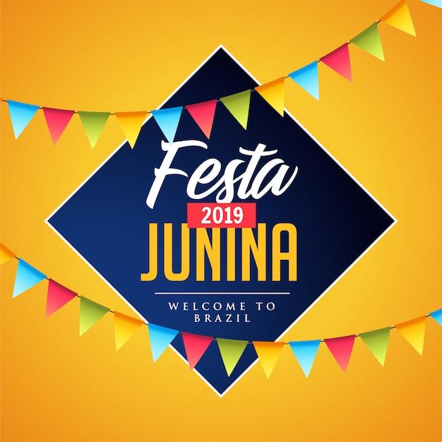 Festa junina decorativa Vetor grátis