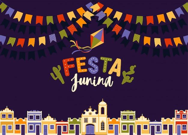 Festa junina do brasil Vetor Premium
