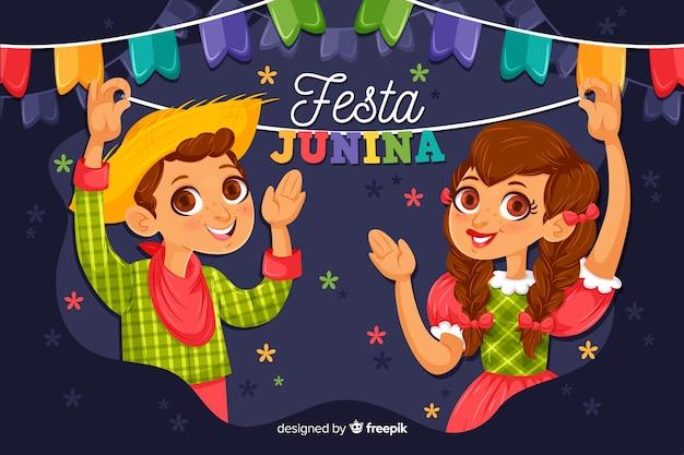 Festa junina Vetor grátis