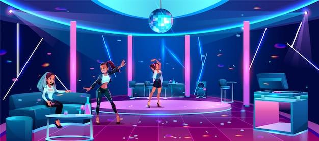 Festa na ilustração do clube noturno Vetor grátis