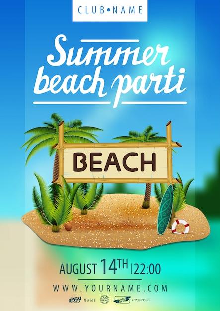 Festa na praia de verão Vetor Premium