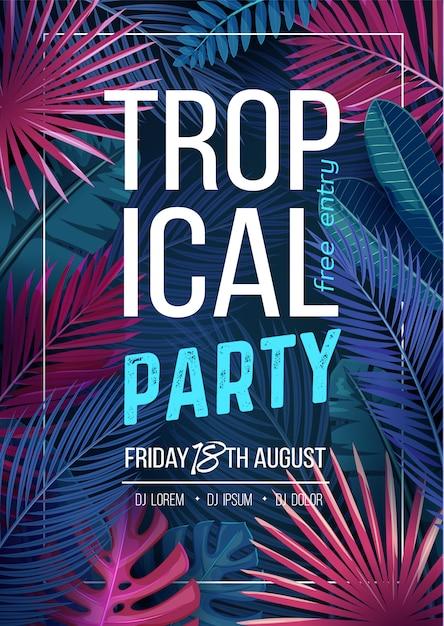 Festa tropical Vetor Premium
