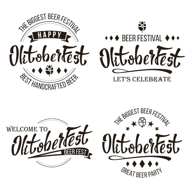 Festival da cerveja oktoberfest Vetor Premium