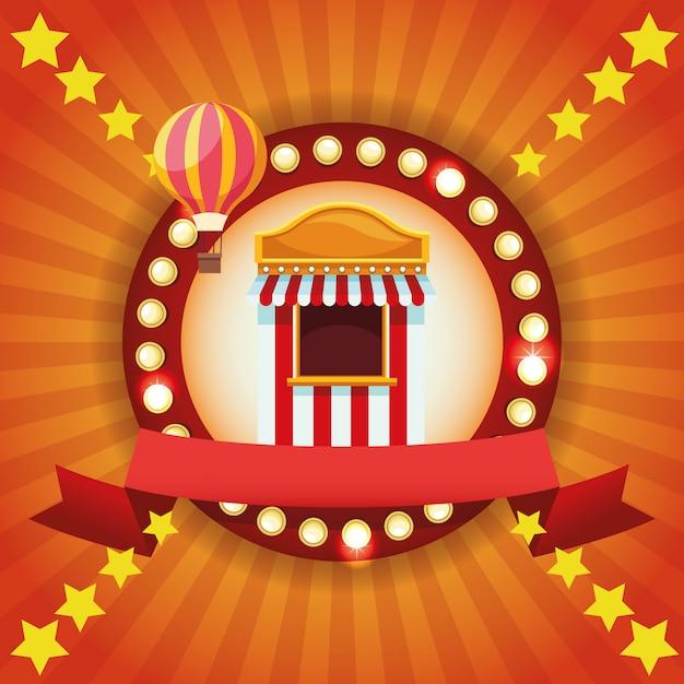Festival da feira de circo Vetor grátis