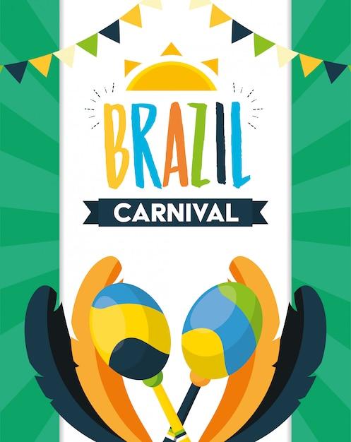 Festival de carnaval do brasil Vetor grátis