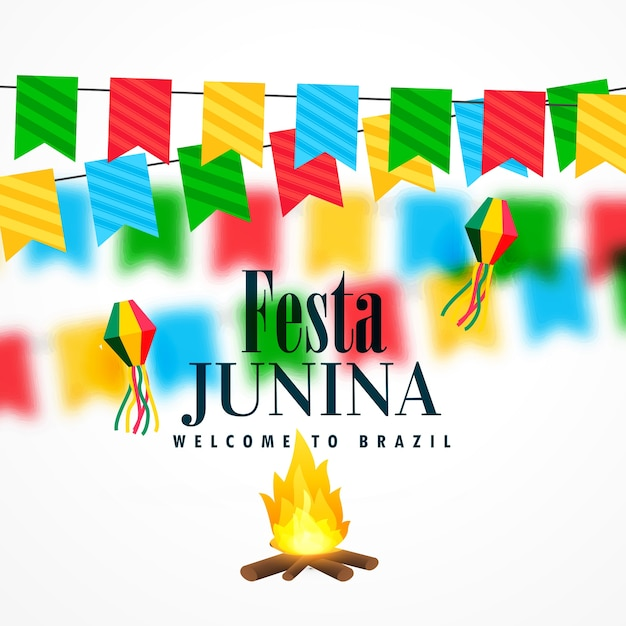 Festival de celebração junho junino do brasil junho Vetor grátis