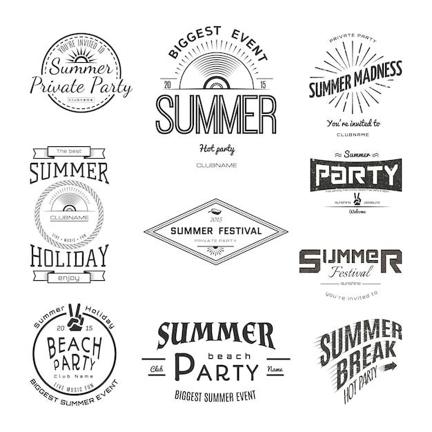 Festival de festa de férias de verão Vetor Premium