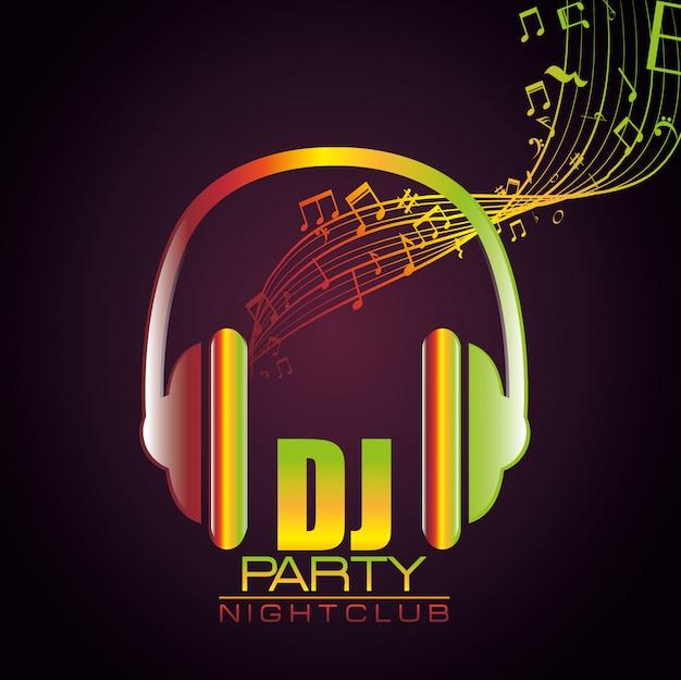 Festival de festa de música Vetor Premium