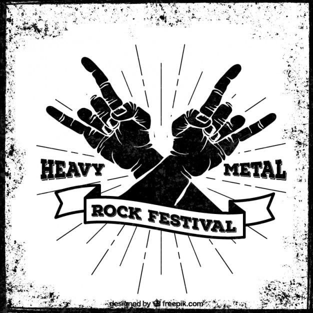 Festival de heavy metal poster Vetor grátis