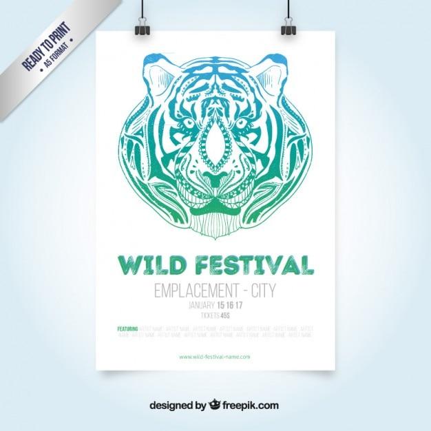 Festival selvagem panfleto Vetor grátis