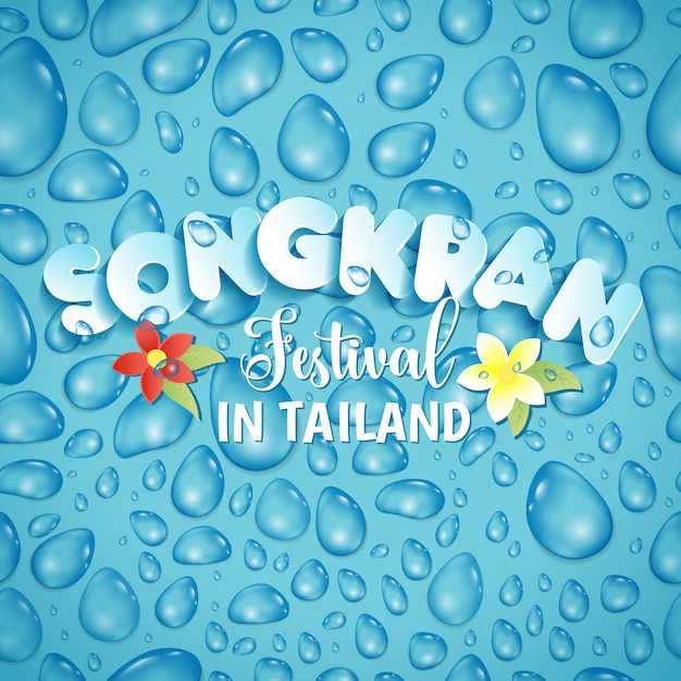 Festival songkran na tailândia de abril Vetor Premium