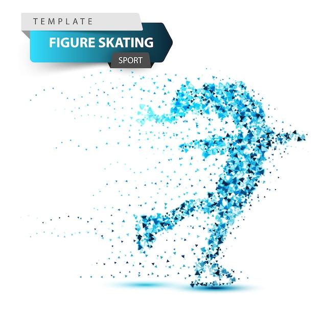 Figura scating - ilustração do triângulo de inverno Vetor Premium