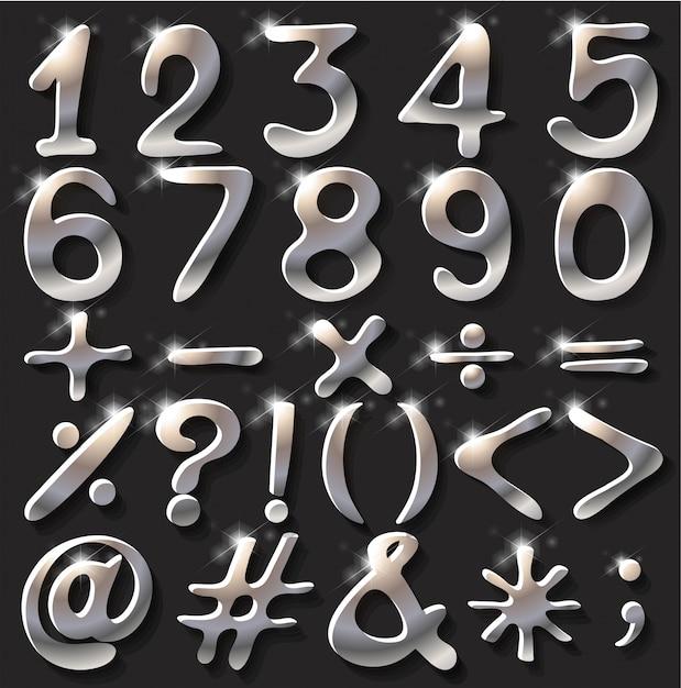 Figuras e operações numéricas Vetor grátis