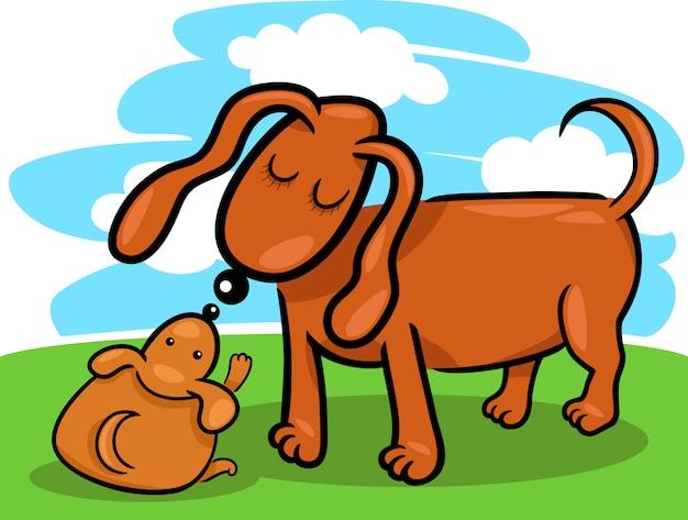 filhote de cachorro e desenhos animados de sua mãe cão baixar