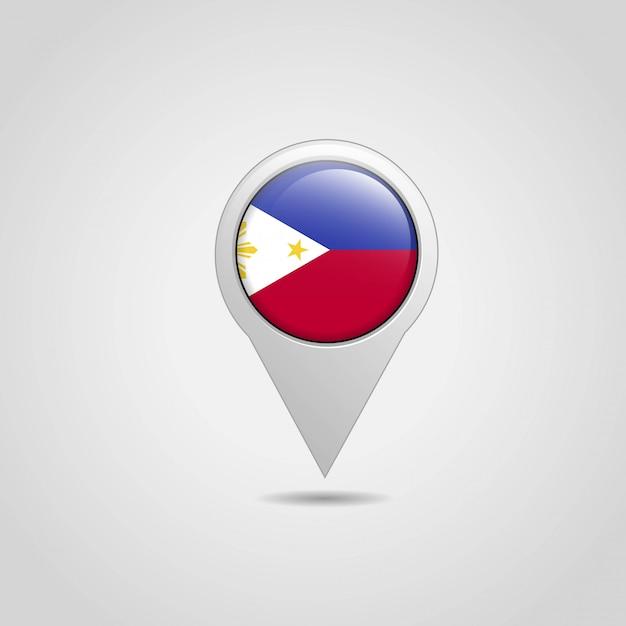 Filipinas bandeira mapa mapa navegação design vector Vetor grátis